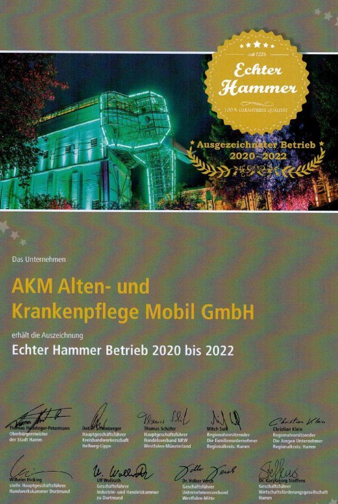 AKM Echter Hammer Betrien 2020-2022